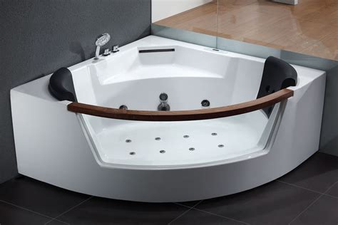 eago bathtub eago am197 5 rounded clear modern corner whirlpool bath