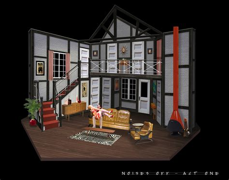 design is play quot noises off quot scenic design clarence brown theatre