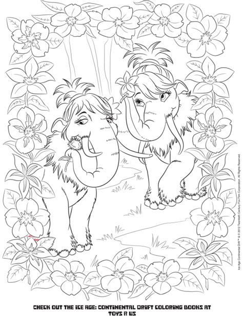 click here for ice age coloring pages kid crafts click here for ice age activity pages kid crafts