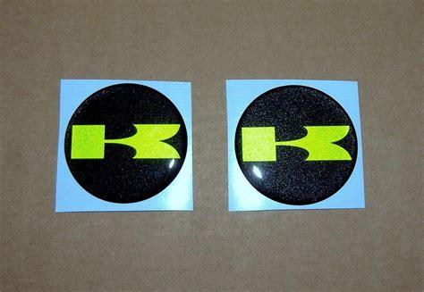 kawasaki emblem 3d gel emblems for kawasaki with raised pearl green