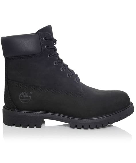 timberland boots black timberland 6 inch premium nubuck boots in black for lyst