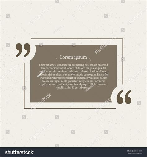 speech note cards template quotation speech empty quote stock vector