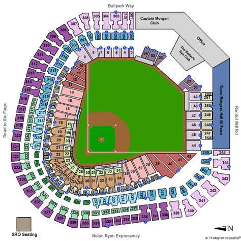 texas rangers ballpark parking map rangers ballpark in arlington tickets and seating chart