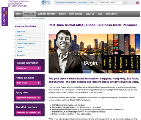 Mba 598 Leo by Global Mba Miami Style By Manchester Business School