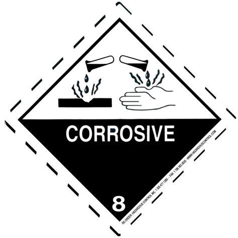printable corrosive label hazardous control dot hazmat labels class 8 hazmat