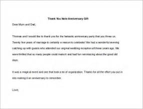 thank you letter to on completing one year 8 thank you note for gift 8 free sle exle