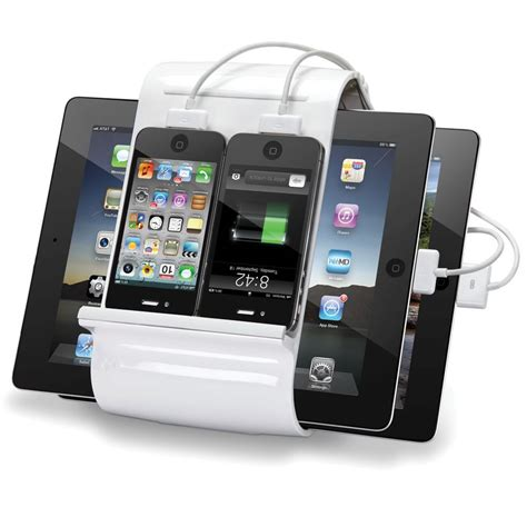 international iphone charger the four iphone charging hub hammacher schlemmer