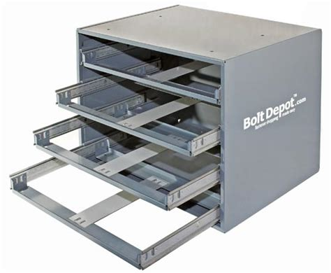 Bolt Drawers by Empty Assortment Bins Accessories Large Metal Trays 4