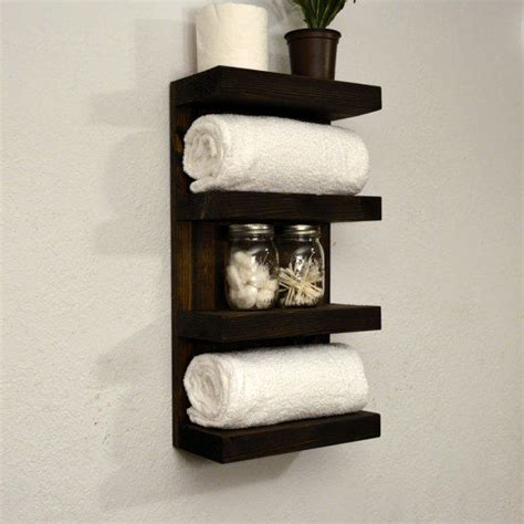 Bathroom Towel Shelving Bathroom Towel Rack 4 Tier Bath Storage From Rusticmoderndecor On