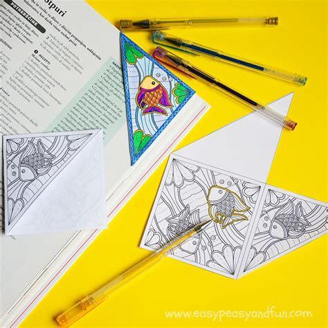 sea corner bookmark to color easy peasy and fun