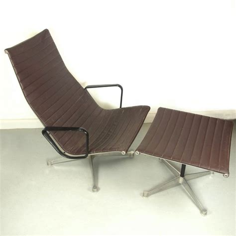 Eames Chair And Stool by A Charles And Eames Aluminium Lounge Chair And Stool By Herman Miller