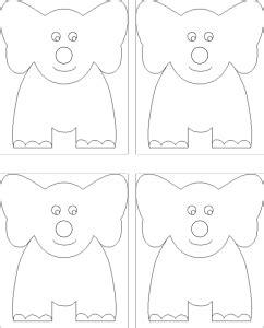 elephant craft template august 2015 kidjamboree