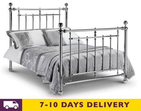 5ft king size bed julian bowen empress chrome 5ft king size bed