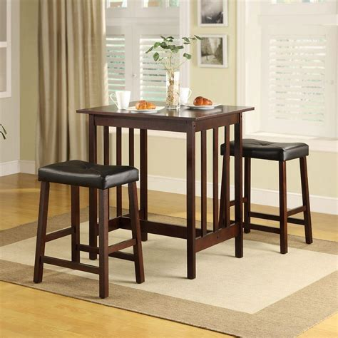 Espresso Bar Table Homesullivan 3 Espresso Bar Table Set 405310es The Home Depot