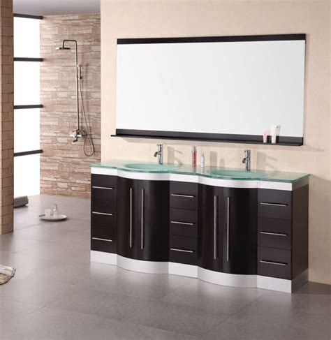 Modern Bathroom Mirror Cabinets 72 Inch Modern Sink Bathroom Vanity With Mirror And Faucets Uvde023gtp72