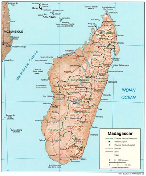 world map of madagascar detailed relief and political map of madagascar