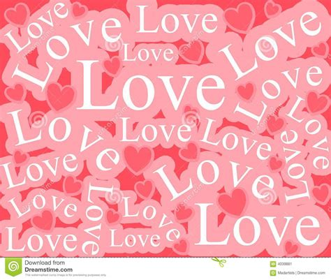 Love Pattern Words | words of love background pattern stock image image 4039881