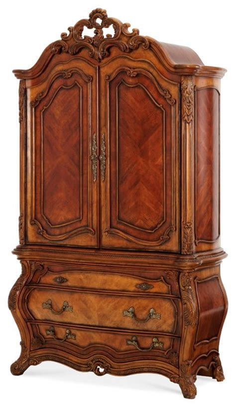 victorian jewelry armoire aico furniture palais royale armoire rococo cognac victorian armoires and
