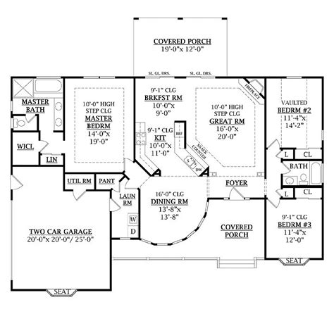1800 square house plans 1800 square 3 bedrooms 2 batrooms 2 parking space on 1 levels house plan 3453 all