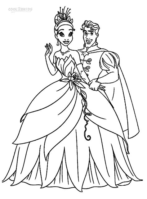coloring page of princess and the frog printable princess tiana coloring pages for kids cool2bkids