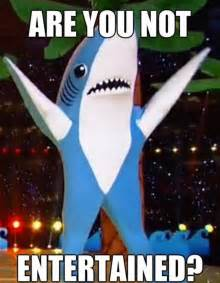 left shark entertainment are you not entertained know
