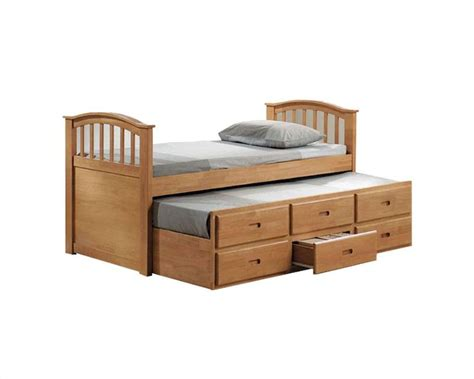 Trundle Beds With Drawers by Acme Furniture Bed With Trundle And Drawers In Maple