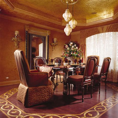Mediterranean Dining Room Furniture by Tuscan Venetian Mediterranean Dining Room Chicago