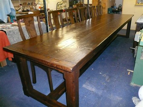 14 seater dining table langford fivehead 14 seater oak refectory tables quercus