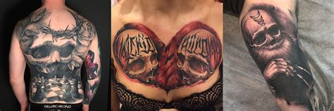 sick skull tattoos sick skull tattoos by benjamin laukis staciemayer