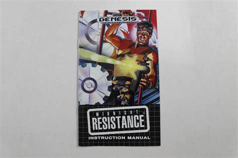 sega genesis manuals manual midnight resistance sega genesis