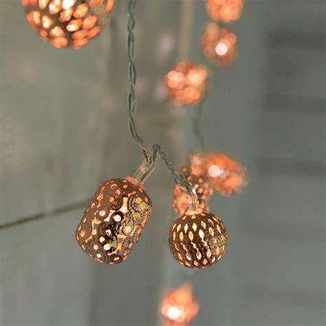 copper fairy lights  home glory notonthehighstreetcom