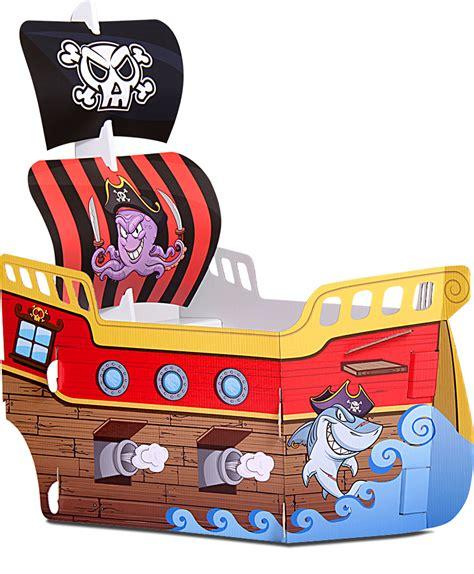 barco pirata hecho en carton barco pirata gigante juego de cart 243 n impreso con