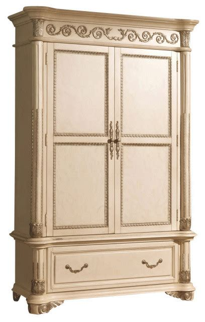 antique white armoire sienna antique white armoire traditional armoires and