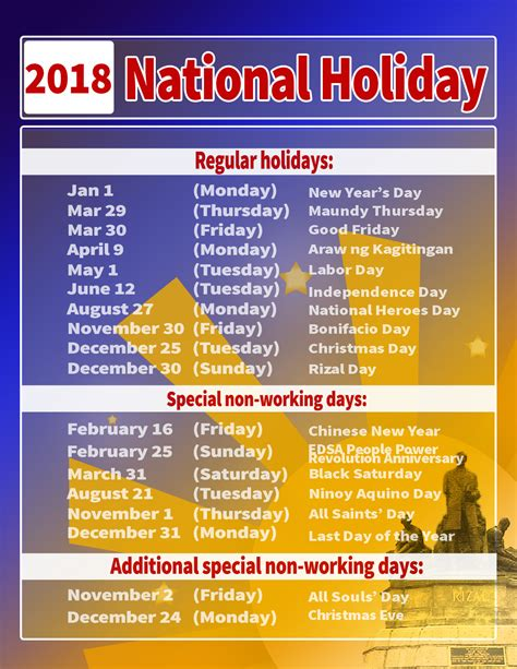Calendar 2018 List Of Holidays 2018 Calendar Holidays List 28 Images Royal Academy