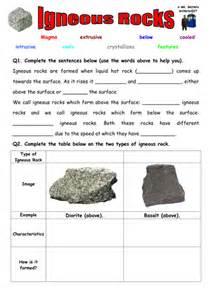 sedimentary rock worksheet worksheet amp workbook site