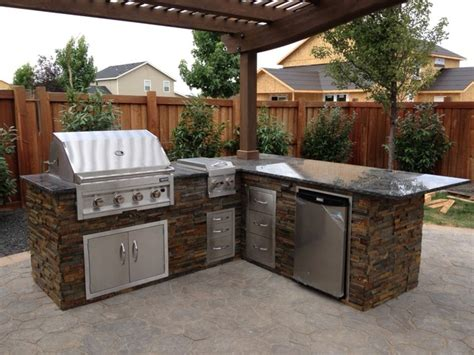 outdoor island kitchen copper basin outdoor kitchen traditional patio