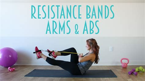 resistance band arms abs workout youtube
