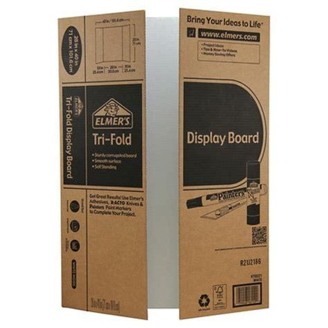 Elmers Trifold Corrugate Project Display Board 28x40 Target Tri Fold Presentation Board Templates