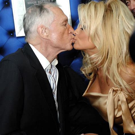 Hefner Thrilled About Pam Andersons Divorce by Hugh Hefner Was Lonely