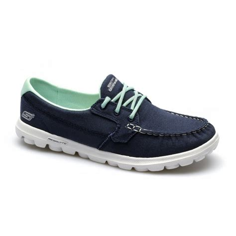 Powell Blue Sneakers Sepatu Casual Canvas skechers on the go unite womens moccasin canvas walking boat shoes navy ebay