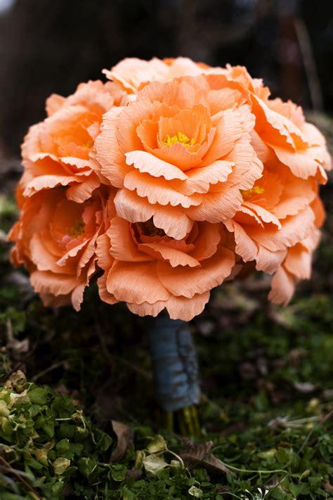 Handmade Flowers For Wedding - or summer wedding bridal bouquet handmade paper