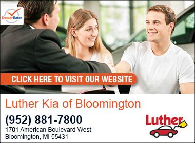Luther Kia Of Bloomington Luther Bloomington Kia Kia Service Center Dealership