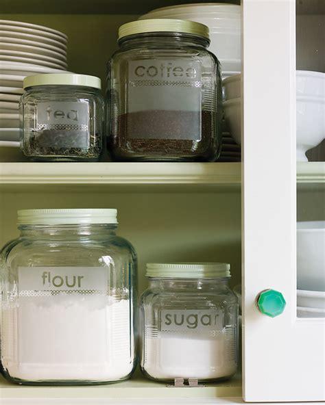 martha stewart crafts paint customized kitchen containers etched glass storage jars martha stewart