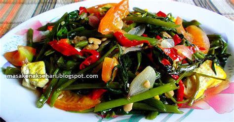 resep kangkung tahu tauco tumis bumbu saus tiram