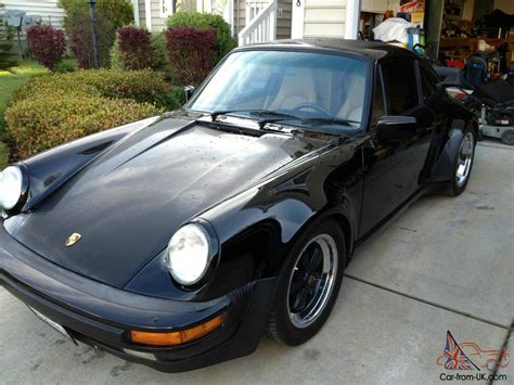 porsche 911 whale turbo 1988 porsche 911 930 whale tale turbo black and