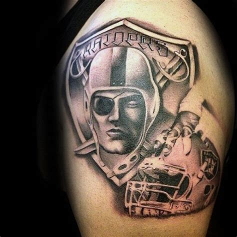 oakland raiders tattoo designs 40 oakland raiders tattoos for football ink design