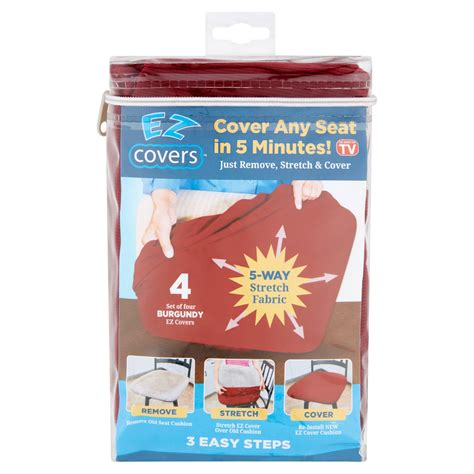 Cover Walmart by Ez Cover Burgundy Covers 4 Count Walmart