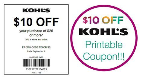 Kohls 10 10 Printable Coupon