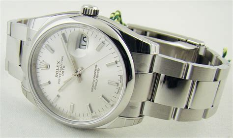 Rolex Oyster Silver rolex 115200 oyster perpetual date silver chitown