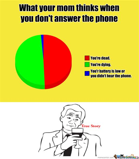 Answer Your Phone Meme - rmx what your mom thinks when you don t answer the phone
